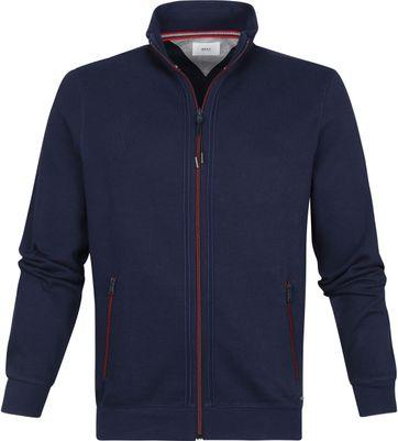 Brax Style Scott Vest Zip Navy