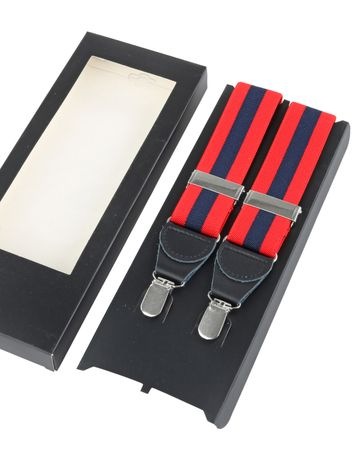 Bretellen Red Navy Stripe