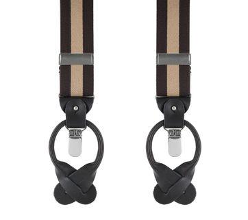 Brown-Beige Suspenders