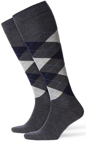 Burlington Edinburgh Knee Socks Dark Grey 3194