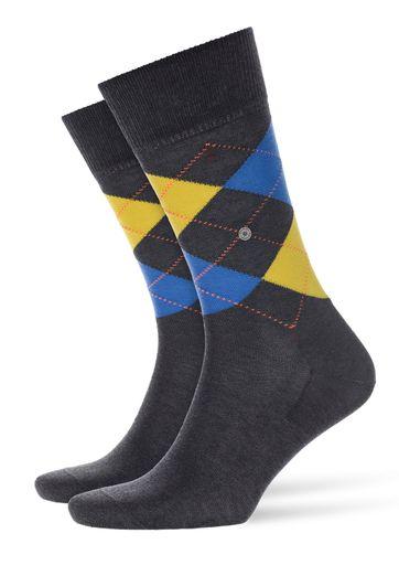 Burlington Manchester Sock Dark Grey 3101