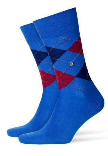 Burlington Manchester Socken Blau 6557