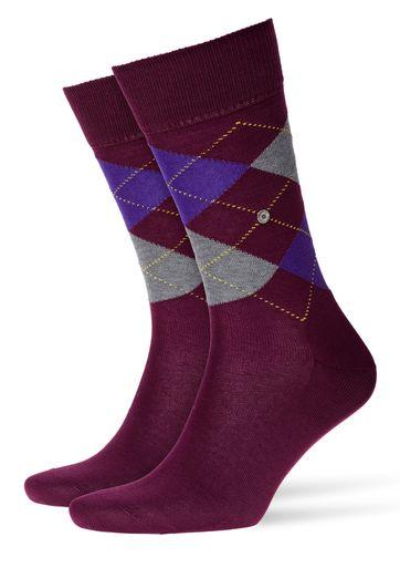 Burlington Manchester Socken Violett 8710