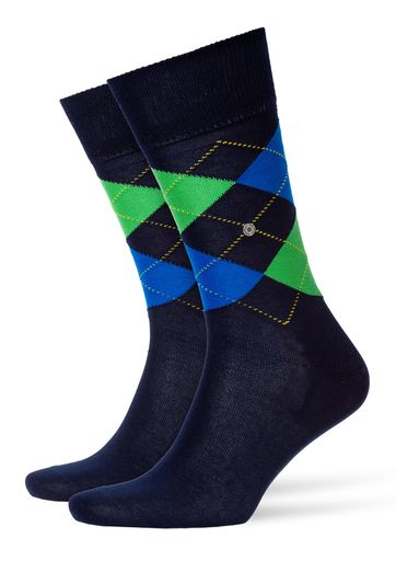 Burlington Manchester Sok Donkerblauw 6151