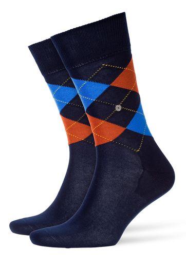Burlington Manchester Sok Donkerblauw 6152