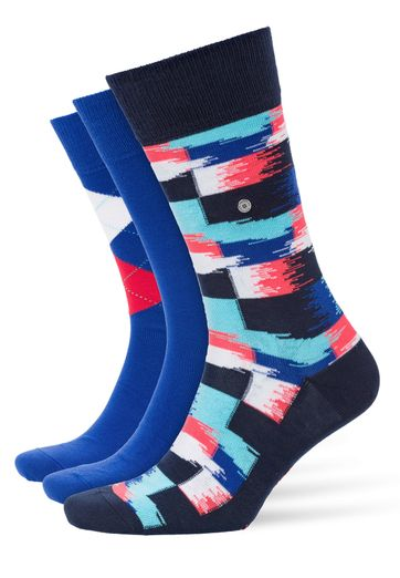 Burlington Socken Gift Pack Blau