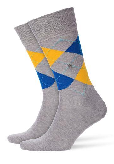 Burlington Socken Manchester Grau Gelb