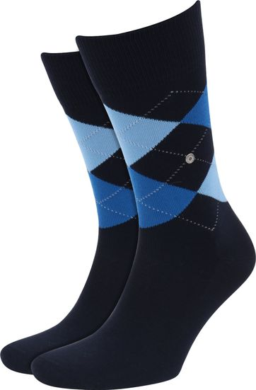 Burlington Socks Checkered Cotton 6120
