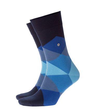 Burlington Sok Blauw/Zwart