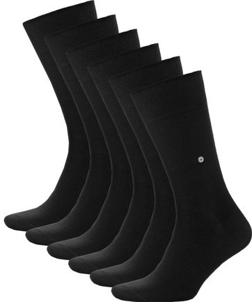 Burlington Uni Zwart 6 Pack