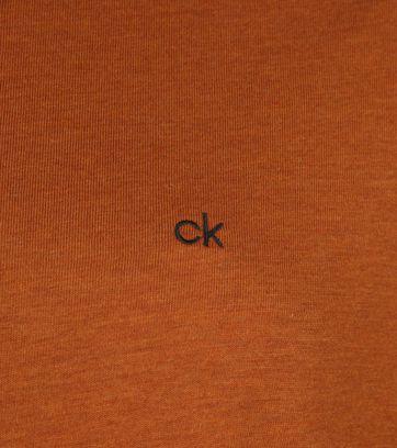 Calvin Klein LS Polo Bruin