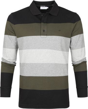 Calvin Klein LS Polo Shirt Stripes
