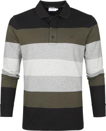 Calvin Klein LS Poloshirt Streifen