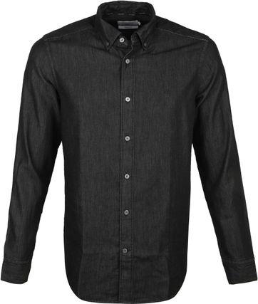 Calvin Klein Overhemd Denim Zwart