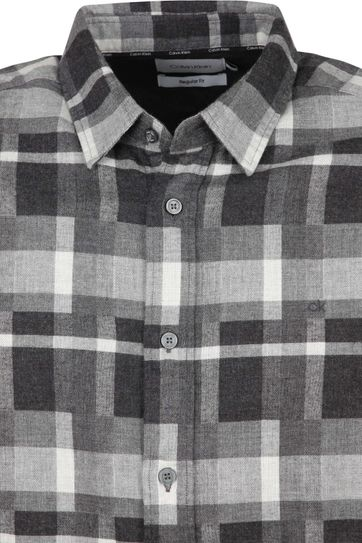 Calvin Klein Overhemd Flannel Zwart