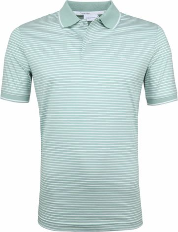 Calvin Klein Polo Hellblau Streifen Grün