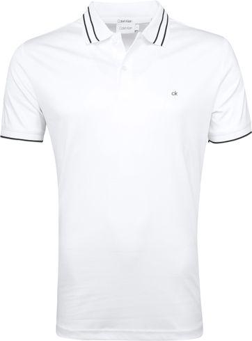 Calvin Klein Polo Hellblau Weiß
