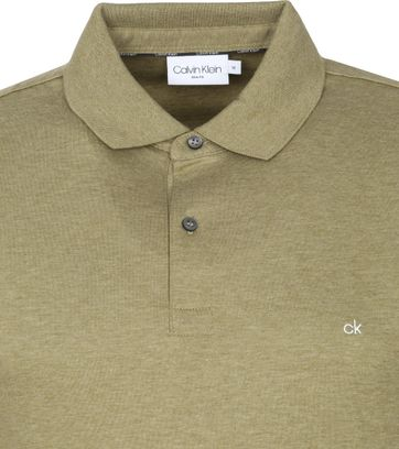 Calvin Klein Polo Shirt Slim Dark Green