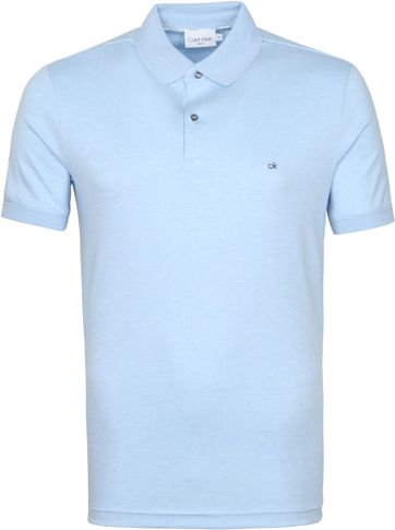Calvin Klein Polo Shirt Slim Light Blue