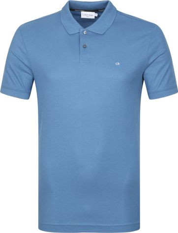 Calvin Klein Polo Shirt Slim Logo Blue