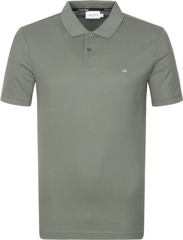 Calvin Klein Polo Shirt Slim Logo Dark Green