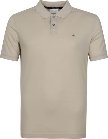 Calvin Klein Polo Shirt Slim Logo Light Grey