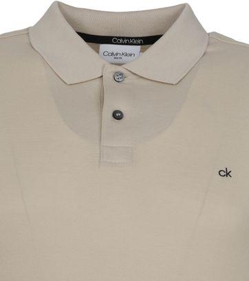 Calvin Klein Polo Shirt Slim Logo Light Grey