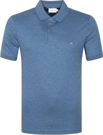 Calvin Klein Poloshirt Slim Blau