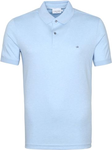 Calvin Klein Poloshirt Slim Hellblau