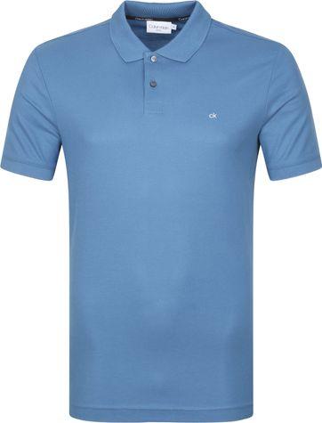 Calvin Klein Poloshirt Slim Logo Blau