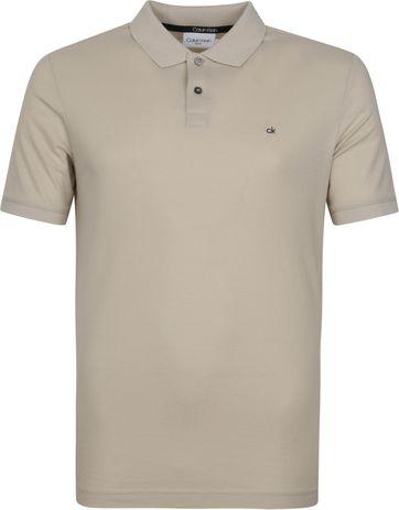 Calvin Klein Poloshirt Slim Logo Hellgrau