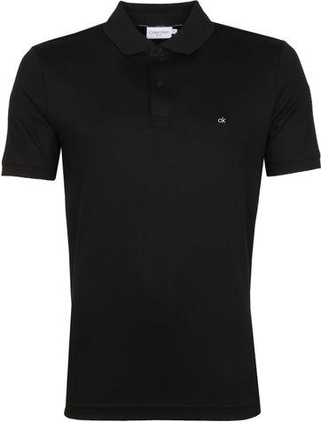 Calvin Klein Poloshirt Slim Schwarz