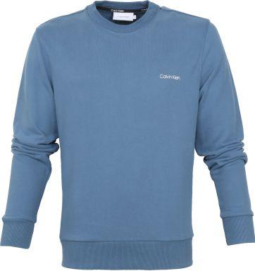 Calvin Klein Pullover Logo Blau