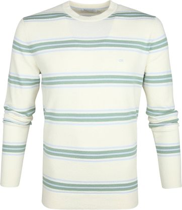 Calvin Klein Pullover Stripes Off-White