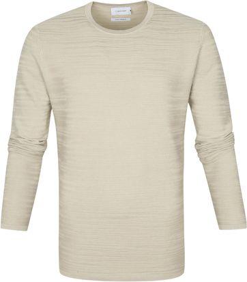 Calvin Klein Pullover Texture Beige
