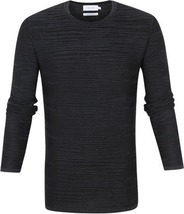 Calvin Klein Pullover Texture Schwarz