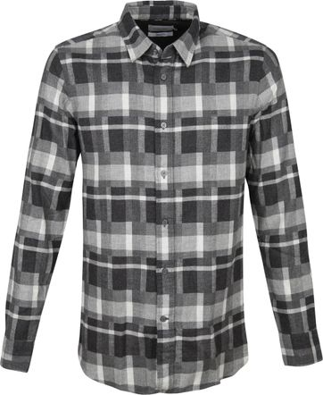 Calvin Klein Shirt Flannel Black