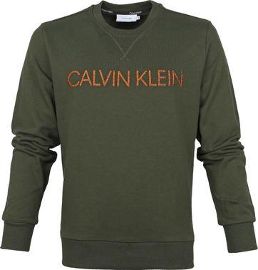 Calvin Klein Sweater Olijfgroen