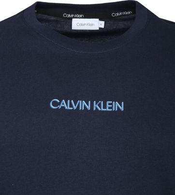 Calvin Klein T-Shirt Logo Blauw