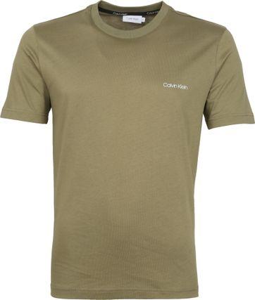 Calvin Klein T-Shirt Logo Dunkelgrün