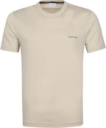 Calvin Klein T-Shirt Logo Hellgrau