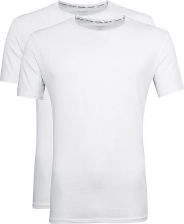 Calvin Klein T-Shirt Rundhals Weiß 2-pack