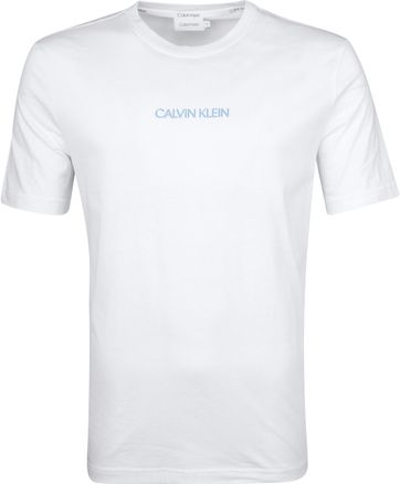 Calvin Klein T-Shirt Shadow Logo Wit