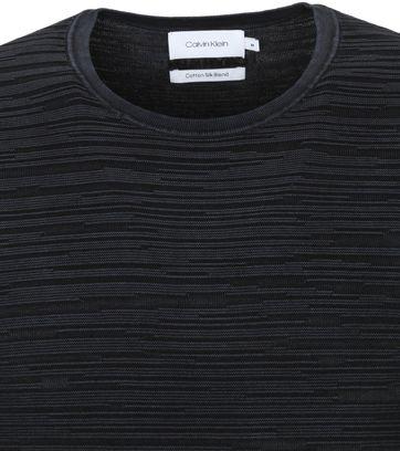 Calvin Klein Trui Textuur Zwart