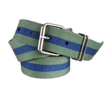 Canvas Belt Green Blue