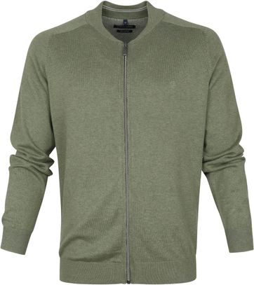 Casa Moda Cardigan Zip Green