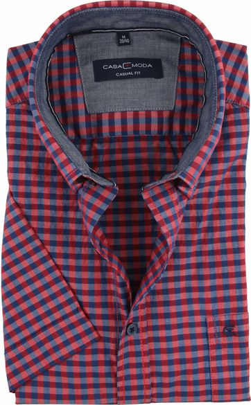 Casa Moda Casual Shirt Check Navy Red