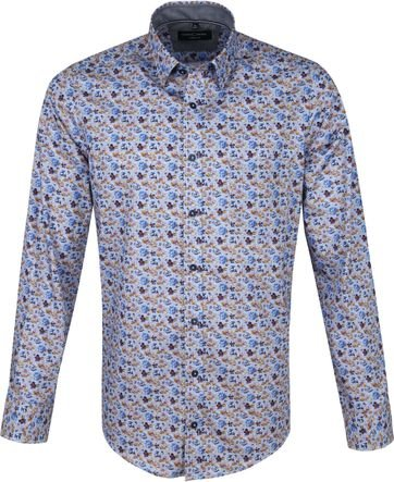Casa Moda Casual Shirt Flowers Multi-colour