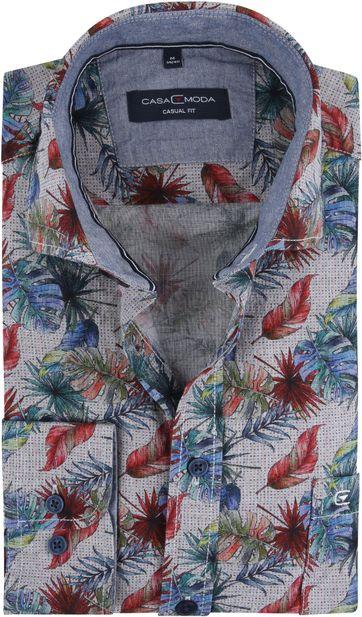 Casa Moda Freizeithemd Blätter