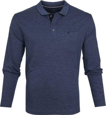 Casa Moda LS Poloshirt Melange Blue